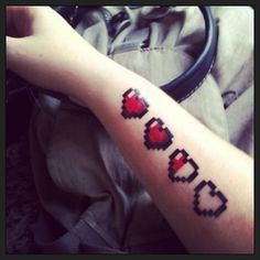 Pixel heart Tattoo by MaryCMuller