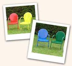 Retro lawn chairs.