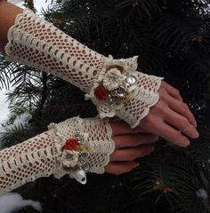 Vintage Edwardian Cuffs  Born to be a Lady by domklary on Etsy, $45.00