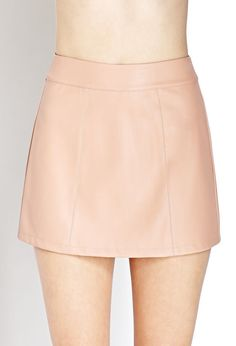 $13 Forever 21 Nude Pink Faux Leather Skirt Size Small | eBay ...