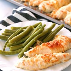 With just Five Ingredients and Five Minutes of prep time, these Garlic Parmesan Chicken Tenders will be your new easy dinner. This is our favorite easy Chicken Tenders Recipe. #lowcarb #lowcarbrecipes #lowcarbdiet #keto #ketorecipes #ketodiet #thm #trimhealthymama #glutenfree #grainfree #glutenfreerecipes #recipes #chicken #chickenrecipes