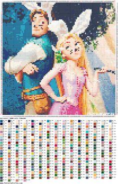 http://ponciar.blogspot.it/ RAPUNZEL EASTER #Disney #rapunzel #blog #cross #stitch #puntocruz #puntocroce #PatternMaker #creativo #faidate #schemi #gratis #free #nosolodepuntodecruz