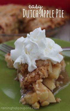 Homemade EASY Flakey Pie Crust and Dutch Apple Pie Recipe!