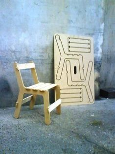 Ben Wilson has designed the Chairfix, a chair you can customize any way. The chair is cut from a flat plywood sheet, and the 2d parts are assembled into a chair. The new Chairfix Junior is now available for children at Buisjes En Beugels.