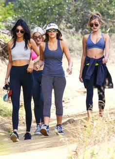 Kendall Jenner & Hailey Baldwin from The Big Picture: Today's Hot Pics  Girls' day out! The group of pals hike together in honor of the brunette model's birthday.