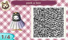 xaxoki: a black and white dress for halloween!!... - Animal Crossing New Leaf