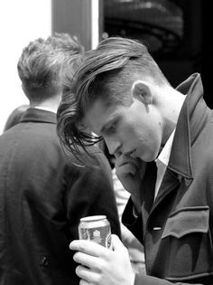 Dapper Mens Long Hair Undercut Straight