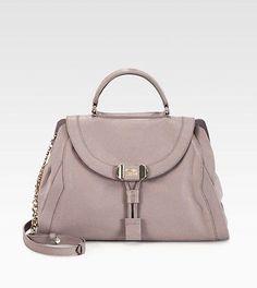 New Authentic See by Chloe Mina Satchel Tote Purse Handbag (Gray, Retail$595+)