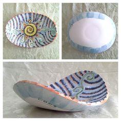 centrotavola incisa in ceramica