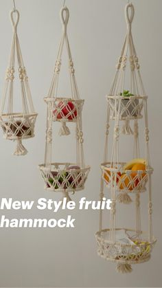 Macrame Plant Hanger Patterns, Free Macrame Patterns, Macrame Plant Holder, Macrame Plant Hangers, Macrame Hanging Planter, Macrame Art, Macrame Design, Macrame Projects, Hanging Fruit Baskets
