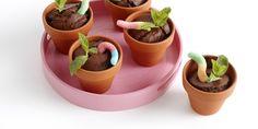 Boodschappen - Chocolade bloempotcakejes