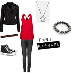 Raphael (TMNT) by nightcrawler257 on Polyvore featuring mbyM, Oasis, Strenesse Blue, Converse, Alex Woo, Abercrombie & Fitch, raphael, tmnt and ninja turtles