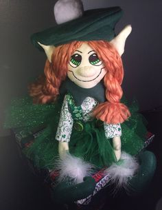 Saint Patricks Day Green Girl Leprechaun/ Irish Elf by AmbersElves, $32.00