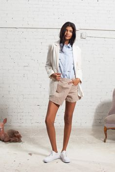 ❖ Look at those cute shorts! |  | Sea New York | PreFall 2016 ❖