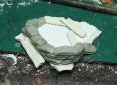 James Wappel Miniature Painting: Trench warfare... sandbagging it