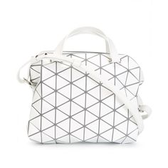 Bao Bao Issey Miyake Bao Bao Issey Miyake Cross Body Bag (€1.275) ❤ liked  on Polyvore featuring bags, handbags, shoulder bags, white, white leather  ... b888c13292
