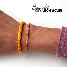 How to Make a Loom From Cardboard and weave your own #friendshipBracelet from it #Jewelry at savedbylovecreations.com #video