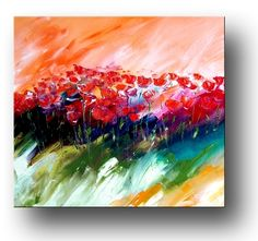 Artiste Andre-red poppies. Original Paintings (Oils)