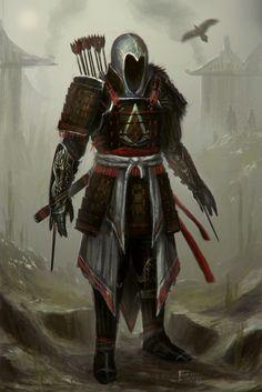 Assassins Creed Feudal Japan by ~TomEdwardsConcepts on deviantART