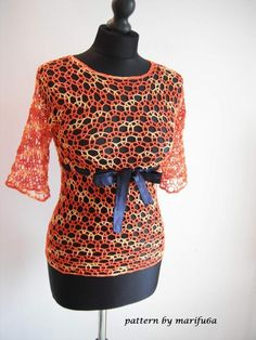 (4) Name: 'Crocheting : crochet mesh blouse pdf