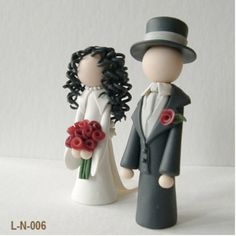 Fimo cake toppers!