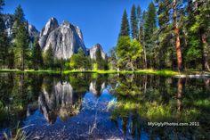 Reflection at Cathedral Rocks – Yosemite Valley.