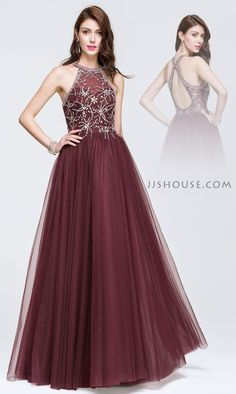 Decked out with lustrous beading over the top bodice, this beautiful dress was perfect for Prom. #JJsHouse #Party #Prom