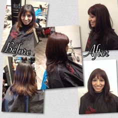 Ooh another before and after! Let's get rid of that old Ombré shall we?