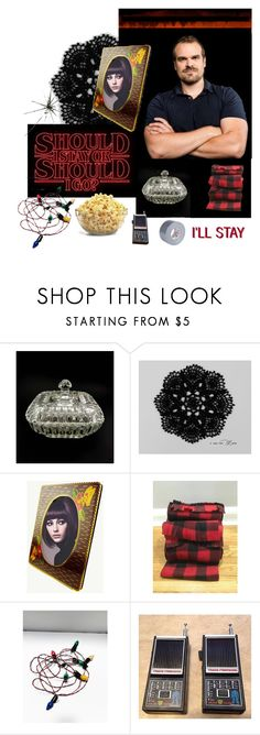 """I'LL STAY"" by seasidecollectibles ❤ liked on Polyvore featuring interior, interiors, interior design, home, home decor, interior decorating and vintage"