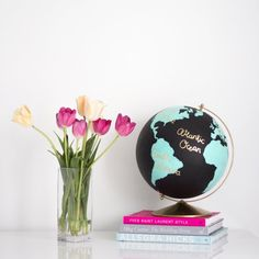 Paint your own Anthropologie inspired wanderlust globe!