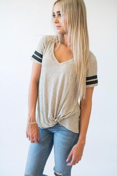 Track Tee - Knotted Stripe so much love for this!! #mindymaesmarket #dreamcloset