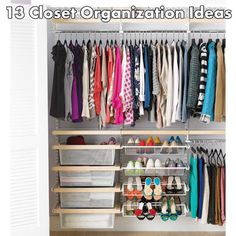 13 closet organization ideas #organizing:  these ideas are lame, but I like this picture!