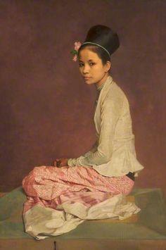 Portrait Of Saw Ohn Nyun IV, 1932-44 by Sir Gerald Kelly (1879-1972)