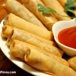 Lumpiang Shanghai - Filipino spring rolls... you can substitute pork with fish, veggies or shrimps which is also awesome! Pair it with some thai sweet chili sauce found at the grocery and its perfect!