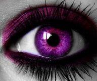 plum crazy purple contact lens