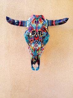 Classica Black & White Steer Skull | LL Designs