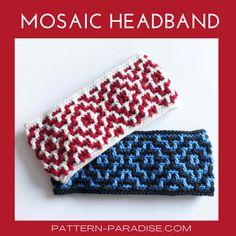 Crochet Ear Warmer Pattern, Crochet Pillow Patterns Free, Crochet Headband Pattern, Free Crochet, Knitting Patterns, Crochet Mens Scarf, Crochet Bows, Crocheted Headbands, Crochet Clothes