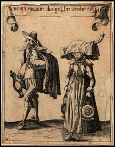 Engravings of Swiss clothing styles from the 1630s