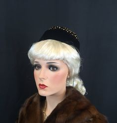 30s 1930s 40s 1940's Vintage Toy Tilt Hat by VintageClothingDream