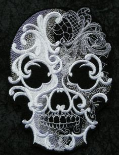 Hey, I found this really awesome Etsy listing at https://www.etsy.com/listing/204688379/ghostly-baroque-skull-iron-on-patch