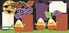 Tricks And Treats Page Kit  Out on a limb scrapbooking