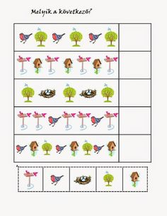 birds pattern for kıds Free Preschool, Preschool Worksheets, Preschool Learning, Cicely Mary Barker, Bird Patterns, Working With Children, Fun At Work, Special Education, Activities For Kids