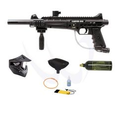 Tippmann US Army Carver One Paintball Marker Entry Combo Package by Tippmann. $124.00. Included 6 items in this package: 1. Tippmann US Army Carver One Tactical Paintball Marker Gun (Description: Semi-auto, .68 caliber, Manufactured by Tippmann, official licensed product of the U.S. Army, 8.5 inches QuiThread barrel (98 threads), All aluminum die cast receiver, Heavy duty stainless steel braided gas line, Four picatinny rails for customization, Built-in sights and sling mounts...