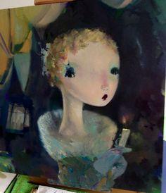 """""""Valerie"""" by Joe Sorren 20x20"""", oil on panel"""