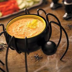 Halloween Appetizers Recipes from Taste of Home, including Black Widow Dip Recipe