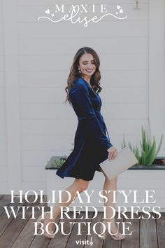Click here to see this festive dress for the holidays on Maxie Elise Blog! Holiday dresses Christmas parties classy. Christmas dresses women classy holiday parties. Holiday outfits Christmas party dresses like this blue velvet dress short. Christmas party outfits classy holiday dresses. Outfits for Christmas party holiday dresses night. Put-together and stylish high knee boots outfit fall sweater dresses. Really cute velvet clothes outfit. #holidays #festive #outfits