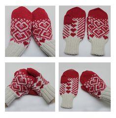 Ravelry: Hjerteflom Votter pattern by StrikkeBea Mittens Pattern, Knit Mittens, Mitten Gloves, Ravelry, Knitting Patterns, Winter Hats, Crafty, Crochet, Blog