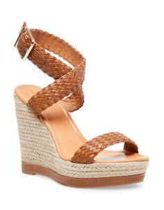ee530648b25f Madden Girl Narla Woven Platform Wedge Sandals - Brown 7M Brown Wedge  Sandals
