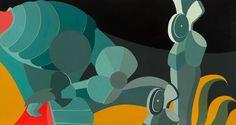 Gianni Cacciarini (Firenze, 1941) - Studio da Paolo Uccello: La Battaglia di San Romano - 1972 - tempera su compensato - Museo Novecento - Firenze