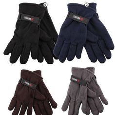 b8792151daf 96 Pairs Mens Fleece Gloves Wholesale BULK Lot Thermal Insulated Winter  Gloves for sale online